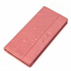 Słodki portfel pastelowy Łososiowy